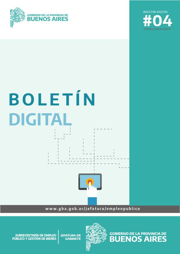 Boletin Digital  N°4 Complementario - Subsecretaría de Empleo Público y Gestión de Bienes