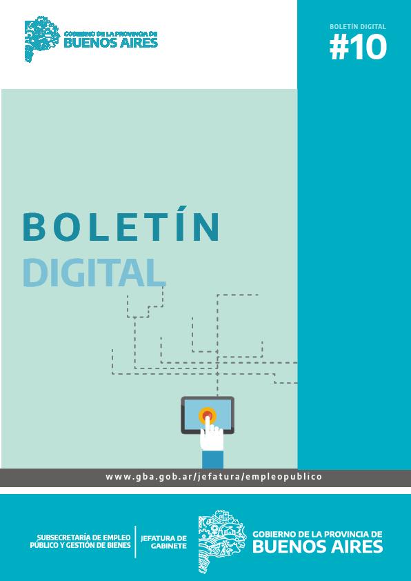 Boletin Digital  N°10 - Subsecretaría de Empleo Público y Gestión de Bienes