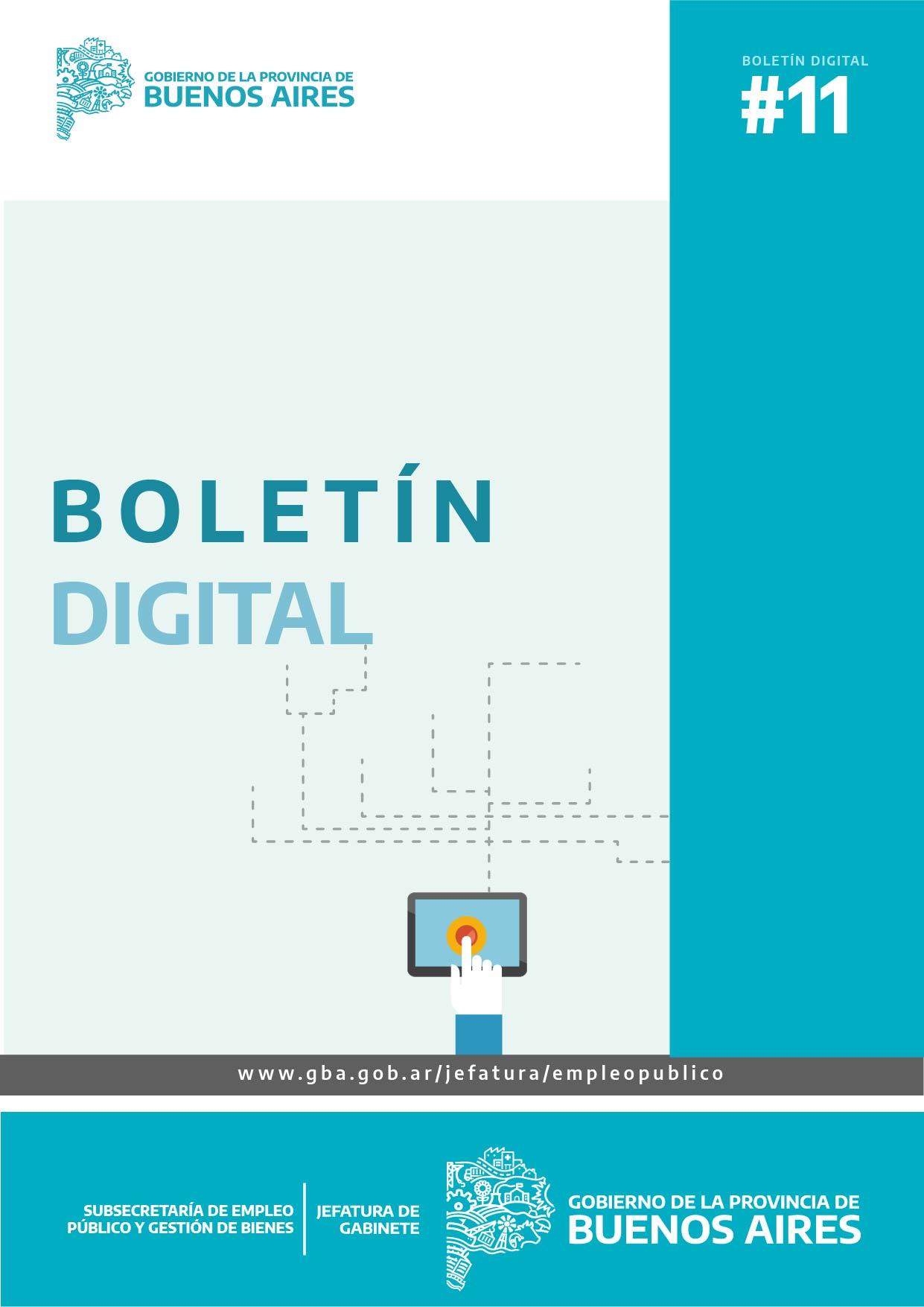 Boletin Digital  N°11 - Subsecretaría de Empleo Público y Gestión de Bienes