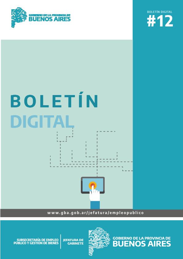 Boletin Digital  N°12 - Subsecretaría de Empleo Público y Gestión de Bienes