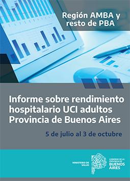 Informe sobre rendimiento hospitalario UCI adultos en provincia de Buenos Aires