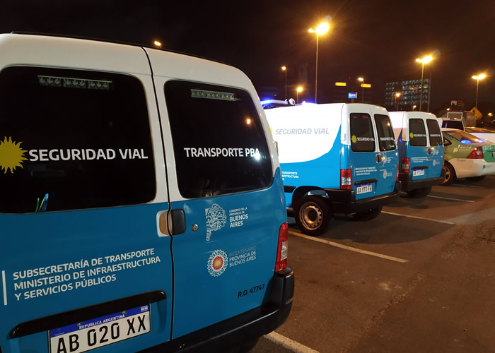 La Subsecretaría de Transporte a cargo de Alejo Supply realizó importante operativo de control vehicular nocturno