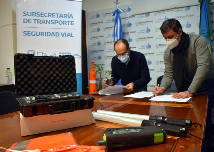 Bolívar recibió kit y alcoholímetro en el maco del Plan Integral de Seguridad Vial