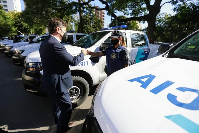 Kicillof puso en marcha 60 nuevos patrulleros para el municipio de La Plata