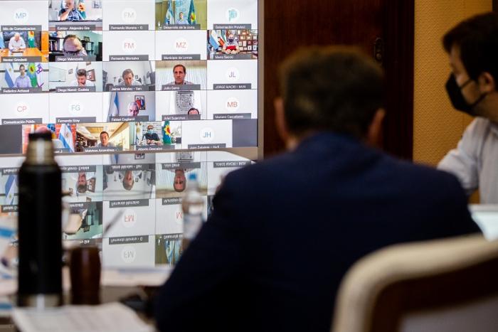 Videoconferencia con Intendentes e Intendentas
