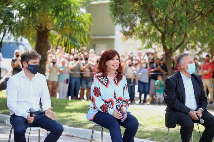 Kicillof y Cristina Fernández de Kirchner pusieron en marcha un nuevo espacio para la Memoria