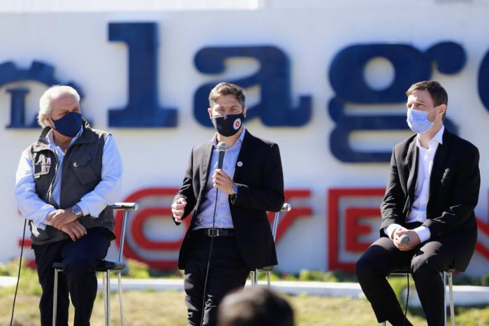 Kicillof, Costa y Granados encabezaron la habilitación del Parque Industrial de Ezeiza