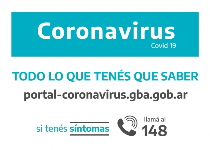 Accedé al portal de Provincia sobre coronavirus