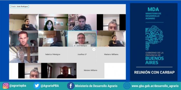 El Ministro Javier Rodríguez se reunió con la nueva dirigencia de CARBAP y le presentó los programas para el sector