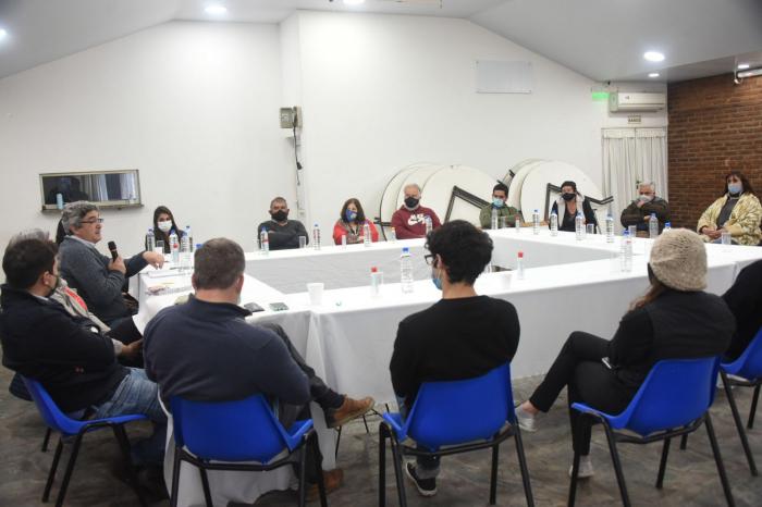 Rodríguez encabezó una mesa de trabajo con el sector productivo de 9 de Julio