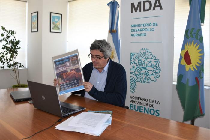 Rodríguez presentó una nueva edición de la revista MDA