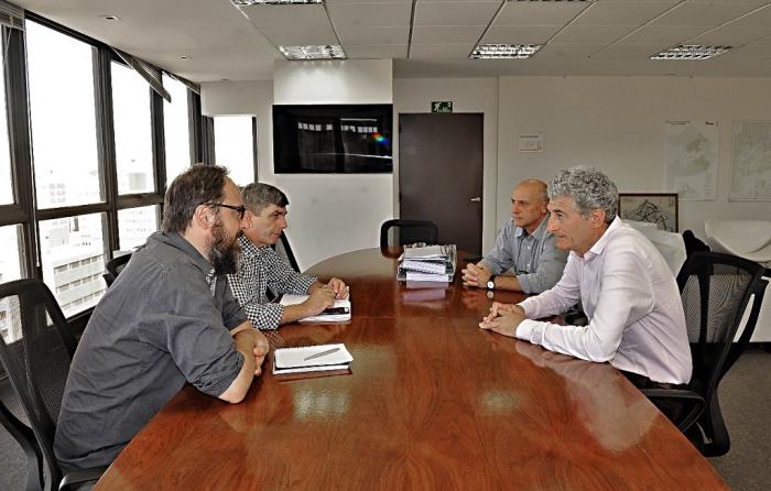 El intendente Barrera con el subsecretario Ghioni