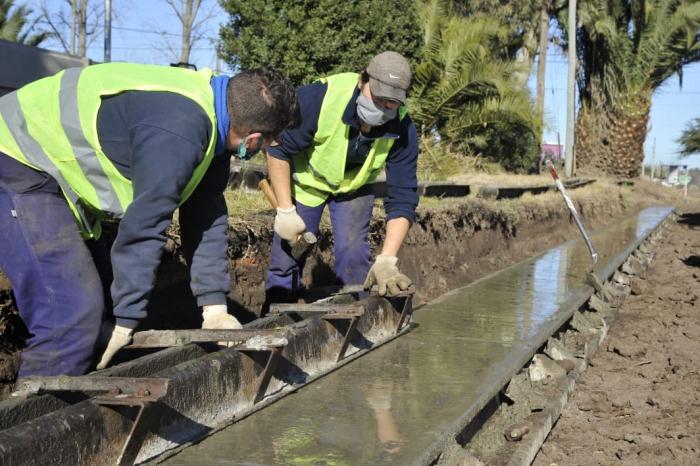 Trabajos de infraestructura en la provincia