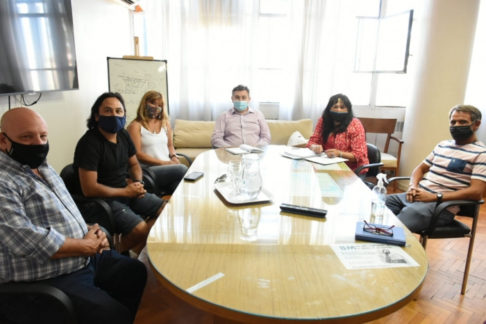 Mesa de trabajo de Jelinski con concejales de Adolfo Alsina