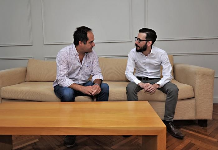 Ministro Simone con Santiago Maggiotti
