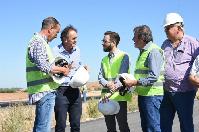 Los ministros inspeccionaron el estado de la Ruta