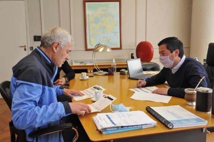 Nardini recibió a los intendentes de Avellaneda y Berisso