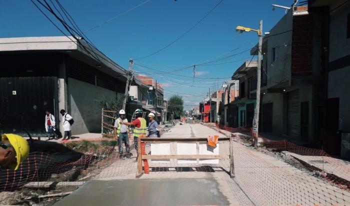 """Avanzan las obras en el barrio """"Costa Esperanza"""" de San Martín"""