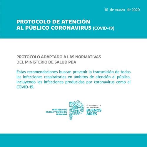 Protocolo de atención al público Coronavirus (COVID-19)