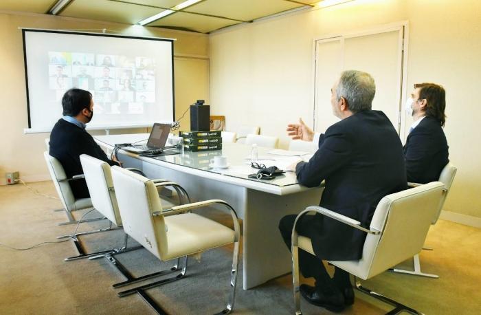 El Ministro de Justicia y Derechos Humanos, Julio Alak, junto con el Subsecretario de Justicia, Inti Pérez Aznar y el Subsecreta