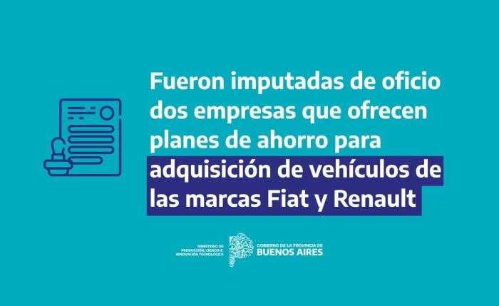 Imputan de oficio a Fiat y Renault