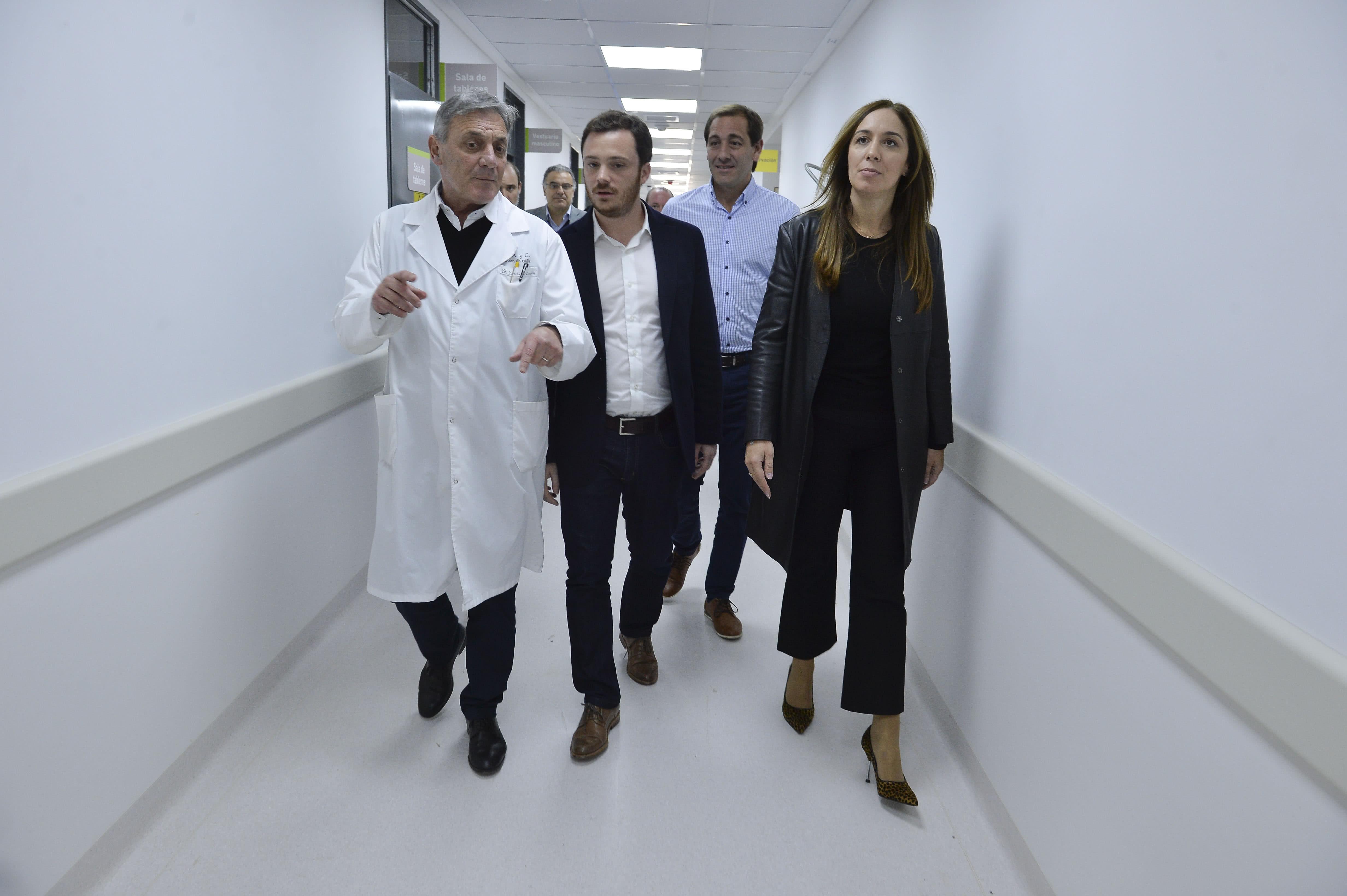 foto Maria Eugenia Vidal con Garro y Scarsi