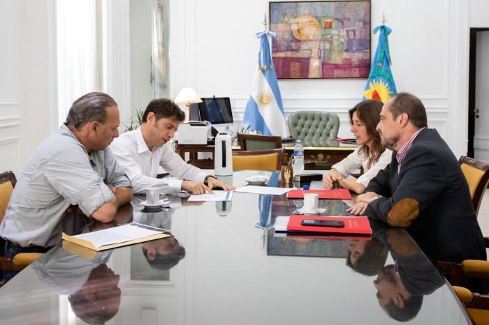 El gobernador Axel Kicillof encabezó un encuentro con la ministra de Seguridad nacional, Sabina Frederic, y su par bonaerense, S