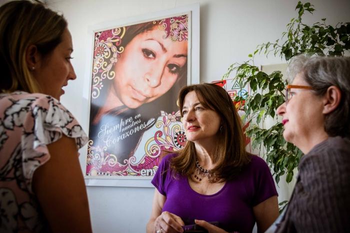 Estela Díaz recorrió el Hogar Integral Fátima Catán, enLomasdeZamora, junto a Marie DominiqueDeSuremain de Eurosocial