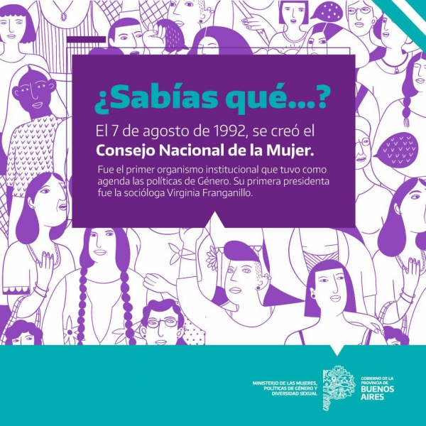 Hace 28 años se creó el Consejo Nacional de la Mujer