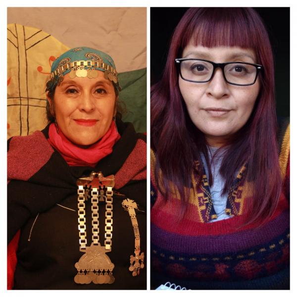 Sandra López del Pueblo Qom y Mirta Millán del Pueblo Mapuche