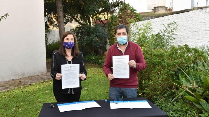 Firma de Comunidades sin Violencias en General San Martín