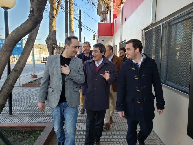 Scarsi y Tagliaferro recorrieron la nuevas instalaciones del Centro de Salud Mercedes Sosa
