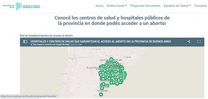 Primer mapa de la red de acceso a aborto en la Provincia de Buenos Aires