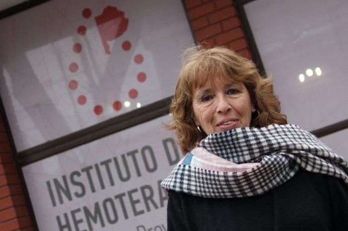 La titular de Hemoterapia, Nora Etchenique