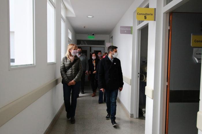 Autoridades de Salud recorrieron hoy el hospital de Monte