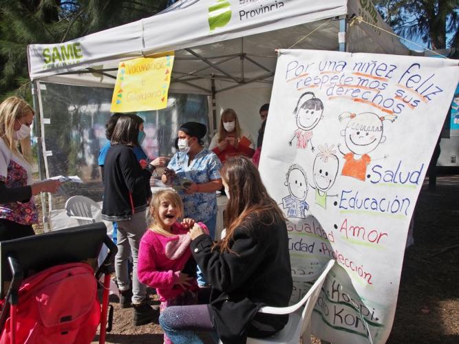 Salud realizó actividades especiales de prevención en el Mes de las Infancias