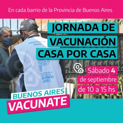 La Provincia sale a buscar a los/as que todavía no se vacunaron.