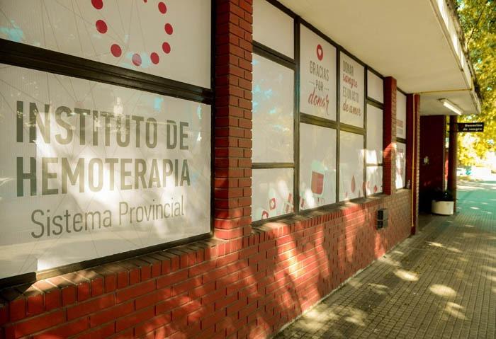 El instituto provincial de Hemoterapia