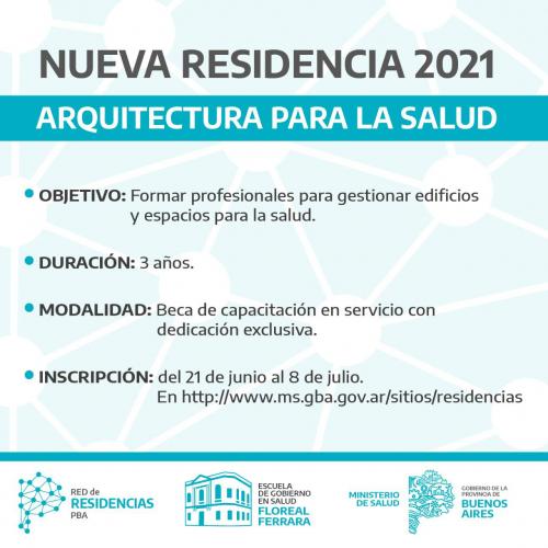 Nuevas residencias en Arquitectura y Abogacía en hospitales de la Provincia
