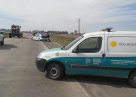 Unidad de Seguridad Vial asistió a vehículo en Ruta 6