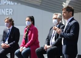 Kicillof participó junto al Presidente de la puesta en marcha del Hospital Néstor Kirchner en Escobar