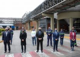 Kicillof visitó la planta de maltería Quilmes junto al Presidente