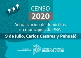La Provincia actualizará 60 mil domicilios en los municipios de 9 de Julio, Carlos Casares y Pehuajó para el Censo 2020