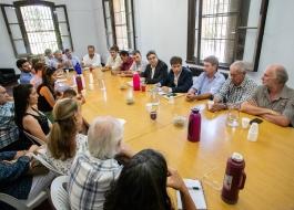 El Ministro, Javier Rodríguez, junto al Gobernador, Axel Kicillof, mantuvo un encuentro con representantes de productores