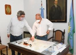 EL MINISTRO RODRÍGUEZ ANUNCIÓ OBRAS DE MEJORA DE CAMINOS RURALES PARA EL MUNICIPIO DE TORNQUIST