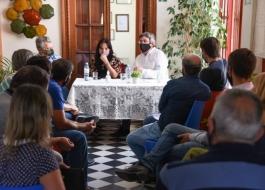 EL MINISTRO RODRÍGUEZ FUE RECIBIDO POR PRODUCTORES DE TANDIL