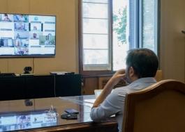 Bianco se reunión con ministros e intendentes para avanzar en el proceso de vacunación