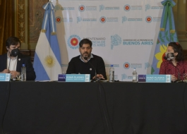 Conferencia de prensa Bianco Kreplak Ceriani