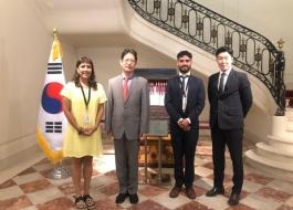 Reunión en la Embajada de Corea