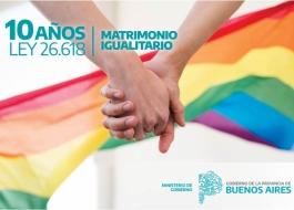 Provincia: desde 2010 hasta mayo de 2020 se registraron 5.650 matrimonios entre personas del mismo sexo
